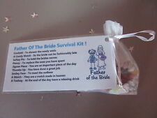Father of the bride survival kit / keepsake gift /wedding  BNIP