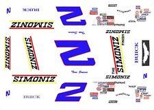 #2 Tom Sneva SIMONIZ 1/64th HO  Scale Slot Car Decals