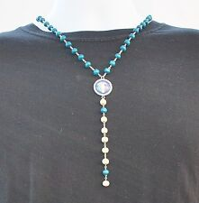 ITALY JERSEY NECKLACE, Italia Jersey Logo Crest Men Women Necklace World Cup NEW