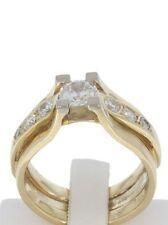 Echte Diamanten-Ringe im Solitär mit Akzentsetzung-Stil für Unisex