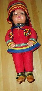 FINLAND LAPLAND GIRL DOLL OPEN/SHUT EYES AUTHENTIC SAMI COSTUME