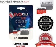 Carte Memoire Samsung Evo Plus Micro sd 64 Go SDHX/SDHC +Adaptateur