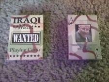 Iraqi War Playing Cards, reproduction, unopened, Bush Admin. Playing Cards