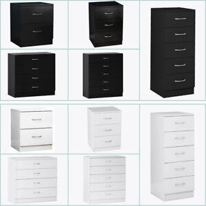 Modern Chest of Drawers Bedside Table Cabinet 1 2 3 4 5 Drawer Bedroom Furniture