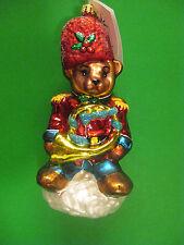 """Radko Teddy Tunes 7"""" Bear Musician Ornament 982560 Vintage Retired NWT"""