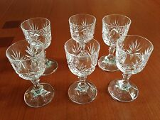 6 Cordial Glasses made by Royal Crystal Rock Italy - Acid Marked