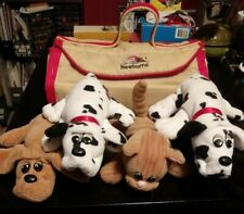 HASBRO- POUND PUPPIES LOT- 4 PUPPIES- 1 KITTEN AND A CARRIER- TONKA