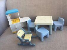 Little Tikes Dollhouse Furniture Table Kitchen Rocking Chair