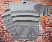 Vintage 80s/90s Colorado Cosby Knit Patterned Crew Neck Sweater Jumper Italy L