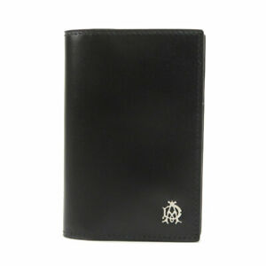 Dunhill   Card Case Logo business card holder Leather