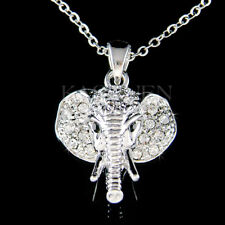 Holy Elephant made with Swarovski Crystal Luck Lucky Animal Necklace Jewelry New