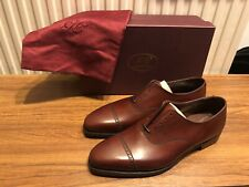 GEORGE CLEVERLEY Charles Oxford Shoes UK7E Chestnut Burnished Calf Brand New