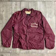 Vintage Fordham University NCAA Button Up Maroon Satin CHAMPION Jacket Men Large