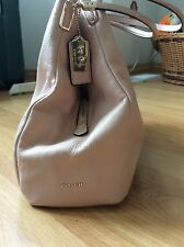 EUC Coach light pink leather large easy carry purse handbag bag