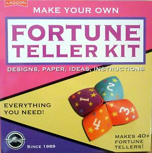FORTUNE TELLER KIT DESIGNS, PAPER, IDEAS, INSTRUCTIONS MAKES 40+! AGE 8+!  BNIP