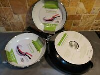 Smart Living Ceramic Cookware BLACK Set of 3 Frying Pans with Warranty