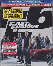 Fast & Furious 6 Target Cda Blu-ray SteelBook DVD + Bonus CD SEALED SHIP IN BOX