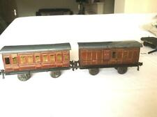 Pair Bing Gauge 1 Early Midland Railway Coaches in Generally Good Condition