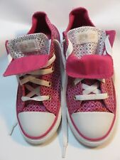 CONVERSE Double Tongue Metallic Pink sneakers Youth (Junior) size 3 Medium EUC