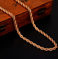 ITALIAN Made 3mm by 24inch 14k ROSE GOLD CHAIN