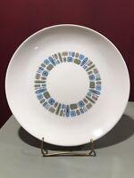 "1 Canonsburg Temporama Pottery 10"" Dinner Plate Mid Century Modern"