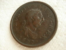 1807 GREAT BRITAIN ONE PENNY GEORGE III COPPER COIN XF