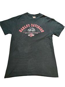 Harley Davidson t shirt black double sided print UAE size Large