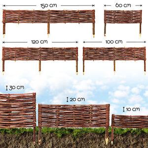 bordure de jardin bois naturelle pelouse obstacle plate-bande Saule Clôture