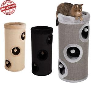 Cat Kitten SCRATCHING BARREL 85cm Scratcher Post Tree Activity Centre Tower Den