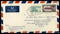 INDIA PULINCUNNOO FEBRUARY 22 1952 AIR MAIL COVER TO MILWAUKEE WI USA