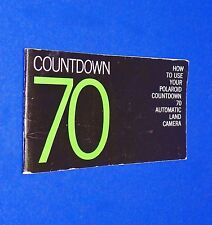 VTG 1970 Polaroid Instant Land Pack Camera Countdown 70 Instruction Manual Book
