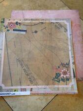 "Basic Grey Lucille ""Seams"" 12x12 Paper 2 pcs"