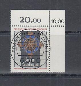 Berlin 648 Prusse Exposition Kbwz Timbre à Date Francfort (MNH)