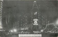 Minneapolis MN~Donaldson's Glass Block~Night Lights For Shriners Week~1908 PC