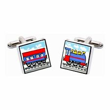 Train Cufflinks by Sonia Spencer, Hand painted, RRP £20!