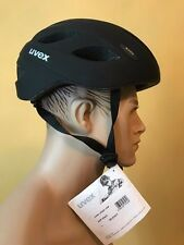 100% AUTHENTIC UVEX URBAN USA BICYCLE HELMET, SOFT BLACK, SIZE L (58-63), NEW
