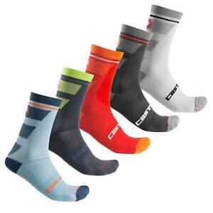 5 pairs castelli trofeo cycling socks all size