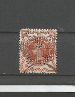 Perfins Großbritannien Queen Victoria Old Stamps Briefmarken Sellos Timbres