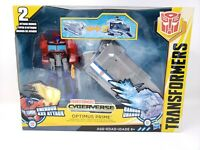 Transformers Cyberverse Warrior Class Optimus Prime With Battle Base Trailer New