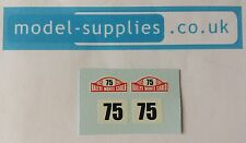 Corgi 323 Citroen DS19 Monte Carlo Rally no. 75 waterslide decal set
