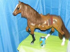 """BATTAT BROWN QUARTER HORSE WITH SADDLE AND BLANKET- 19.5""""TALL X 22"""" LONG"""