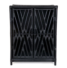 Black Rattan Cabinet/Buffet/SideBoard/Hampton's/Coastal/Storage Hall Table