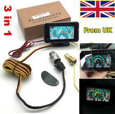 Universal Car Oil Pressure Gauge + Voltmeter+Water Temperature Gauge W/Sensors&