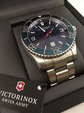 Victorinox Swiss Army Automatic Mechanical Maverick, Blue Dial Dive Watch 241706