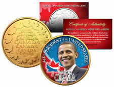 BARACK OBAMA *44th President* Royal Canadian Mint Medallion 24K Gold Plated Coin