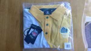 New Men's NFL Team Apparel Green Bay Packers SS Polo Shirt Size L