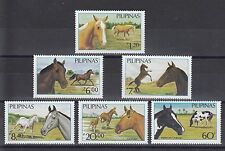 TIMBRE STAMP  6  PHILIPPINES Y&T#1443-46  CHEVAL HORSE NEUF**/MNH-MINT 1985 ~A63