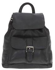Leder Rucksack CININO LADY Lederrucksack Handtasche Backpack Bag 1270 SCHWARZ +e
