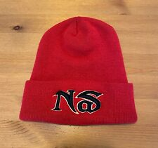 Vintage Nas 90's Promo Logo Beanie Rap/Hip-Hop (Red, Embroidered, I Am, Illmatic