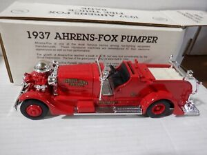 Ertl 1937 Ahrens-Fox Fire Truck Bank Red 1:30 Scale 052821DMT2